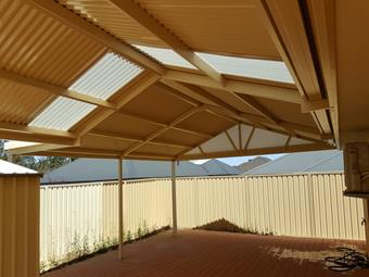 colorbond gable patio
