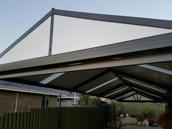 C-dek gable patio with Sunlite endfill