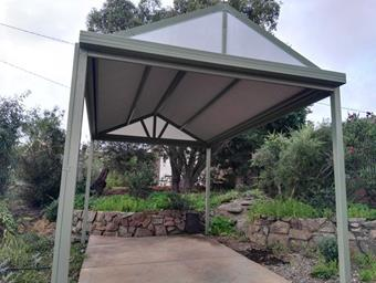 free standing gable single carport