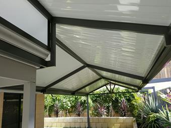 Cut off truss in a gable patio