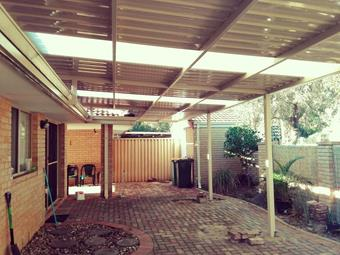 open raised flat patio by great aussie patios