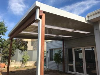 a cdek flat with wood by great aussie patios