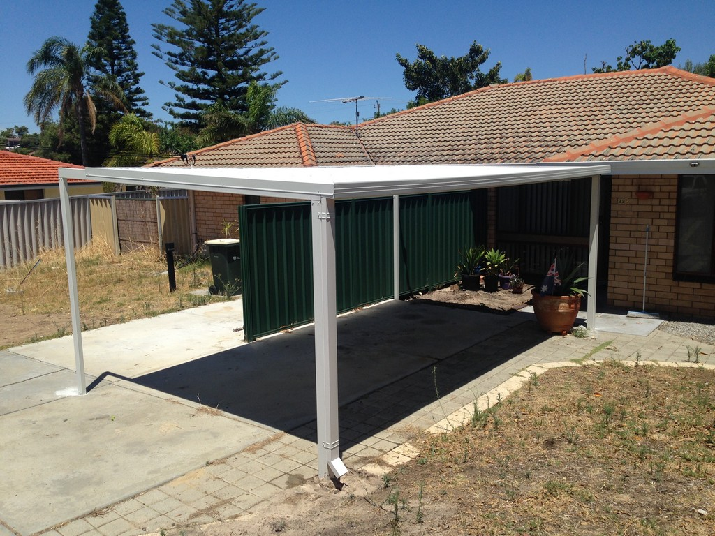 2 Car Metal Carport Flat : Carports perth steel carport builders great aussie patios