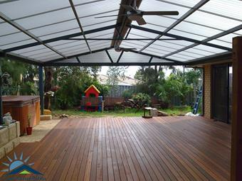 All polycarbonate Gable patio - Great Aussie Patios