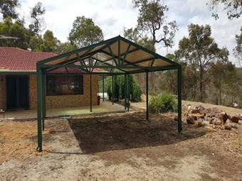 Free standing gable carport