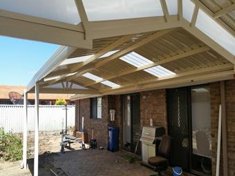 Gable within a gable truss with sunlite endfill