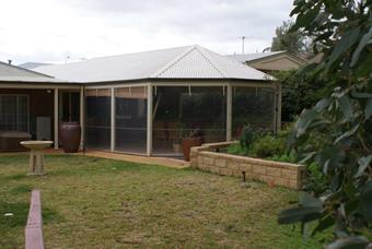 Hipend patio with Dura Shield polycarbonate roofing
