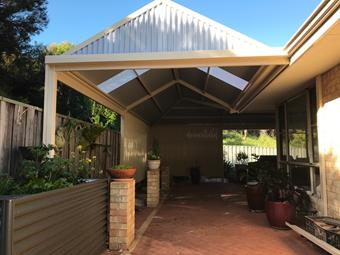 large custom gable patio