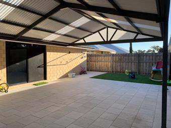 a gable patio