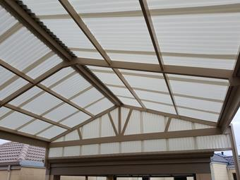 suntuff polcarbonate gable patio by great aussie patios