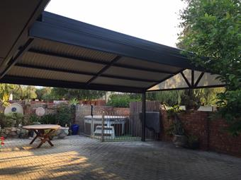 gable patio in colorbond