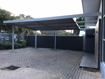 open end on carport