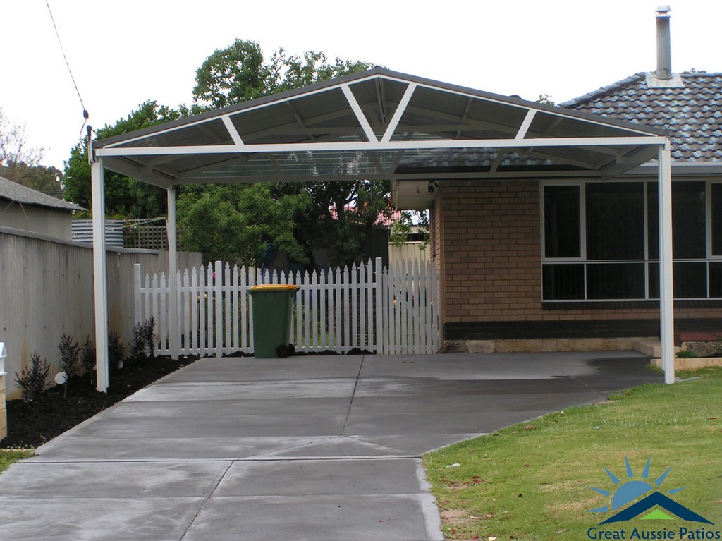 Carports perth steel carport builders great aussie patios for Carport deck