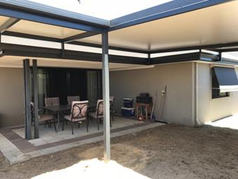 raised flat patio with solarspan