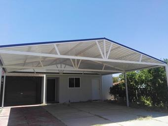 a gable carport with full trusses