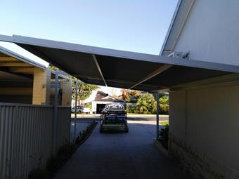 skillion carport by great aussie patios