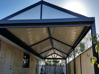 Simple gable patio with C-Dek roofing