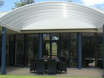 Dome patio in multicell