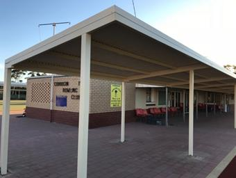 A skillion patio in Corrigin