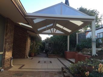 colorbond steel gable patio