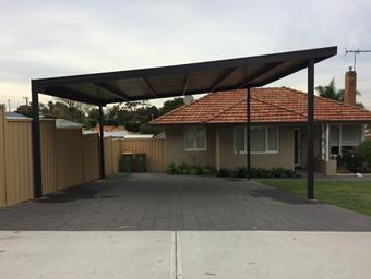 a custom free standing skillion carport