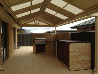 Gable patio, perfect setup for a BBQ