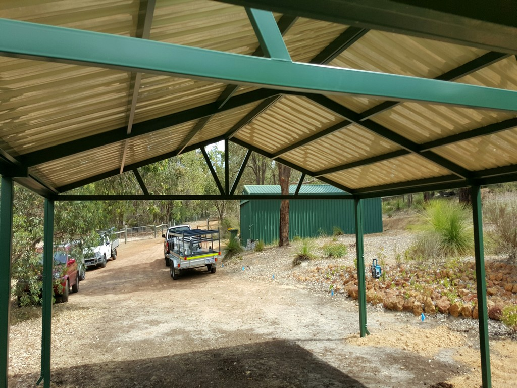 Carports perth steel carport builders great aussie patios for Backyard carport designs