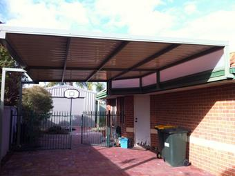 raised flat carport