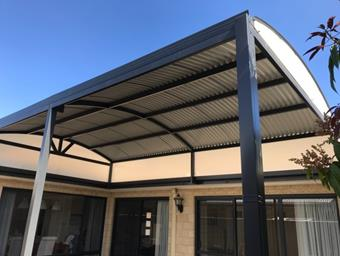 a raised dome patio with sunlite infill