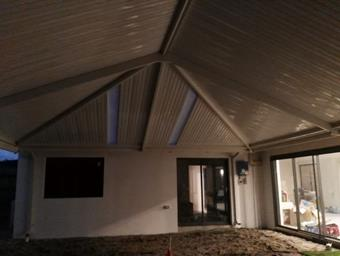 a hipend gable patio with cdek roofing