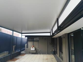 a flat patio raised with solarspan