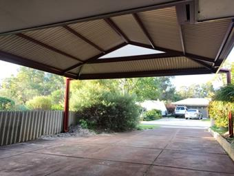 a hipend dutch gable carport