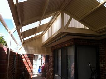 gable patio custom endfill