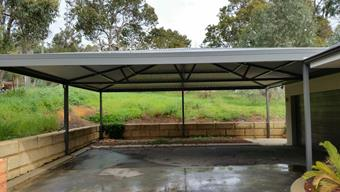 Custom pyramid carport