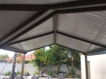 hip and valley gable patio