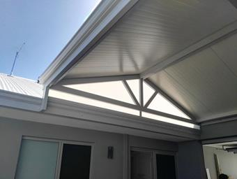 a gable patio in solarspan