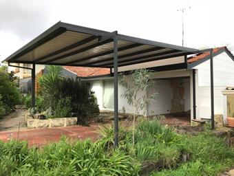 garden to double carport