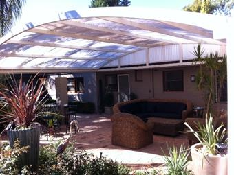 All polycarbonate dome patio