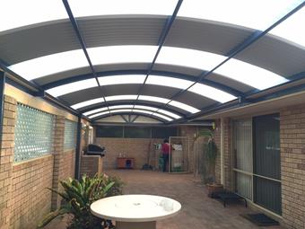 dome patio in colorbond