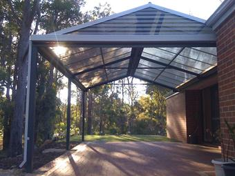All polycarbonate Gable patio 3 - Great Aussie Patios
