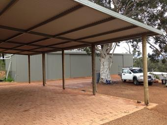 Large custom flat carport