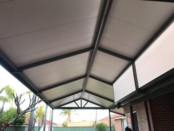 a gable solarspan patio by great aussie patios