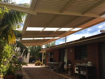 a raised flat patio flyover by great aussie patios
