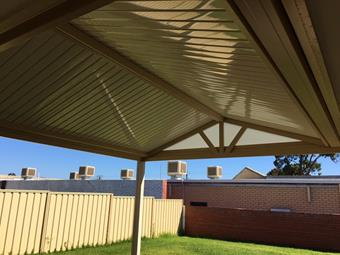 A gable over looking the lawn - Great Aussie Patios