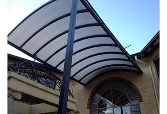 Custom dome to match arch window with Multicell roofing