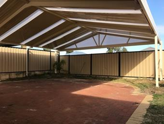 a cdek gable patio with skylights