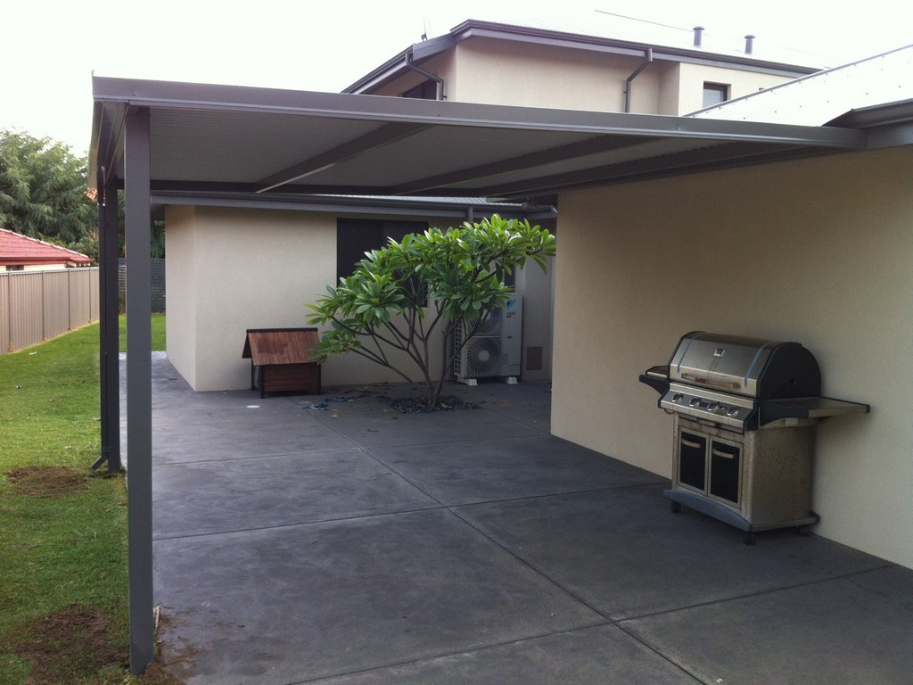 Flat roof patio pergola designs great aussie patios perth for Flat backyard design ideas