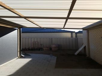 All polycarbonate flat patio