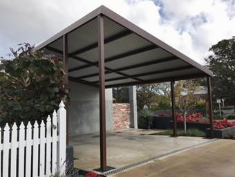 a custom skillion carport
