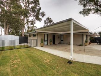 a raised flat carport by great aussie patios